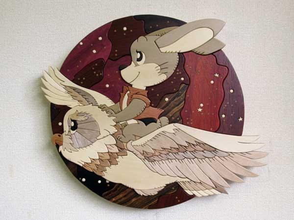 あさのたかを 作品展 -木目で描くウッドアート-